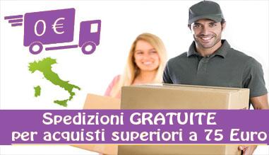 Spese di spedizioni gratuite a partire da 75 euro